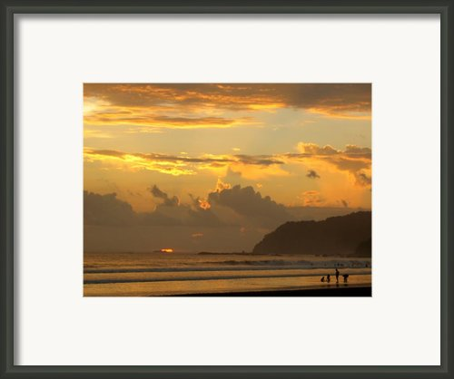 Jaco Sunset Framed Print By Daniel  Taylor