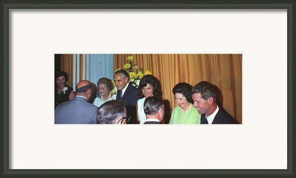 Jacqueline And Robert Kennedy Host Framed Print By Everett