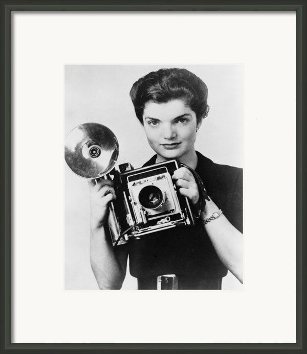 Jacqueline Bouvier As The Inquiring Framed Print By Everett