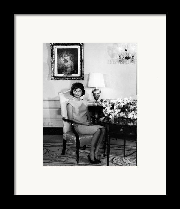 Jacqueline Kennedy, Circa. 1960s Framed Print By Everett