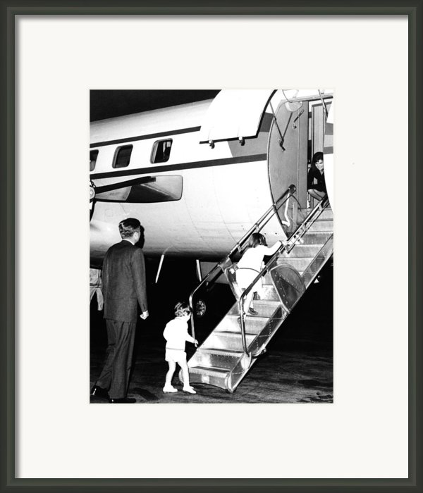 Jacqueline Kennedy Is Welcomed Home Framed Print By Everett