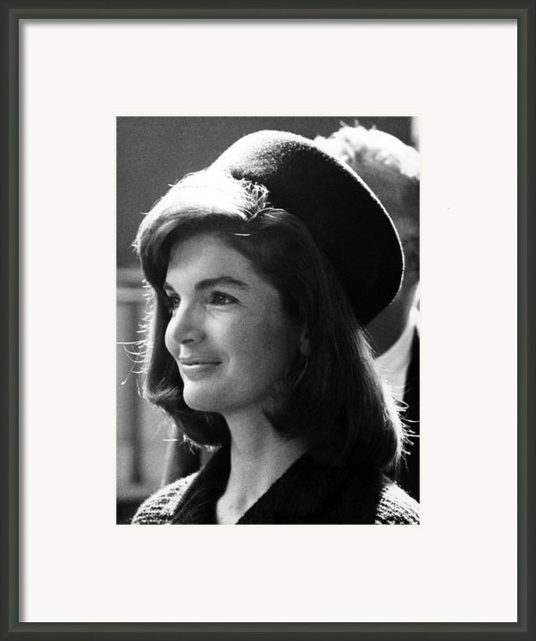 Jacqueline Kennedy, Joins The President Framed Print By Everett