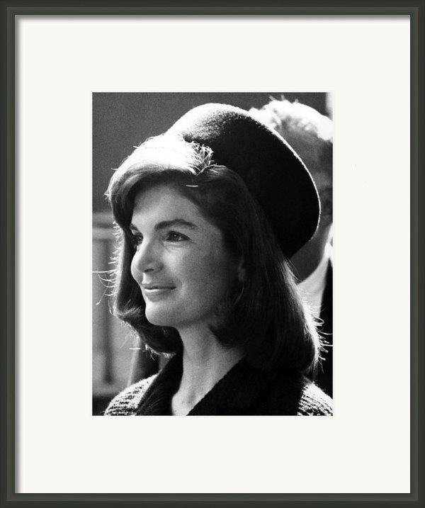 Jacqueline Kennedy, Joins The President Framed Print By Everett