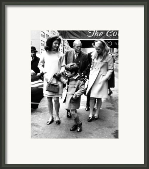 Jacqueline Kennedy, Randolph Churchill Framed Print By Everett