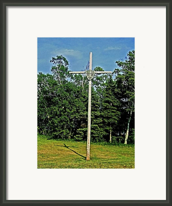 Jacques Cartier In Gaspe 1534 ... Framed Print By Juergen Weiss