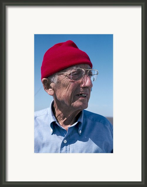 Jacques-yves Cousteau, French Diver Framed Print By Alexis Rosenfeld