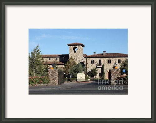 Jacuzzi Family Vineyards - Sonoma California - 5d19322 Framed Print By Wingsdomain Art And Photography