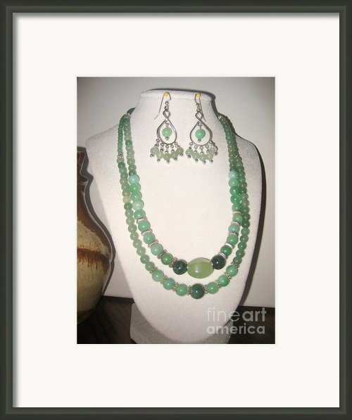 Jade And Silver Necklace Framed Print By Christina A Pacillo