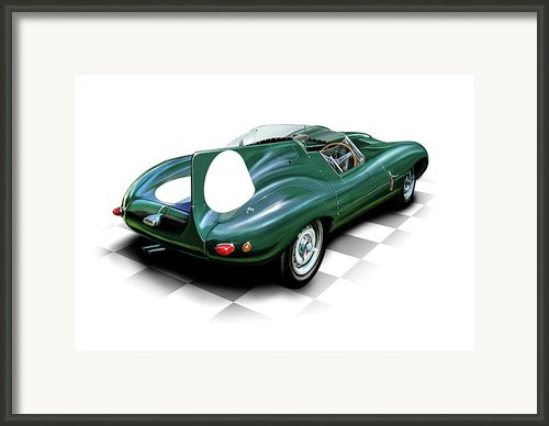 Jaguar D Type Framed Print By David Kyte