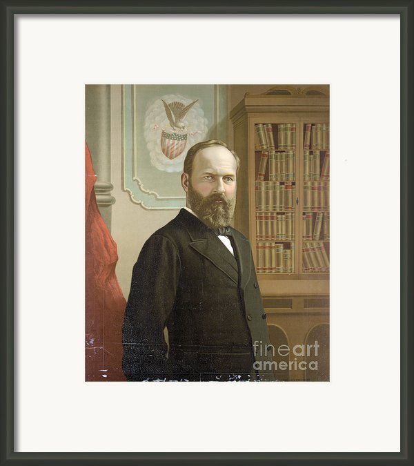 James A. Garfield, 20th American Framed Print By Photo Researchers