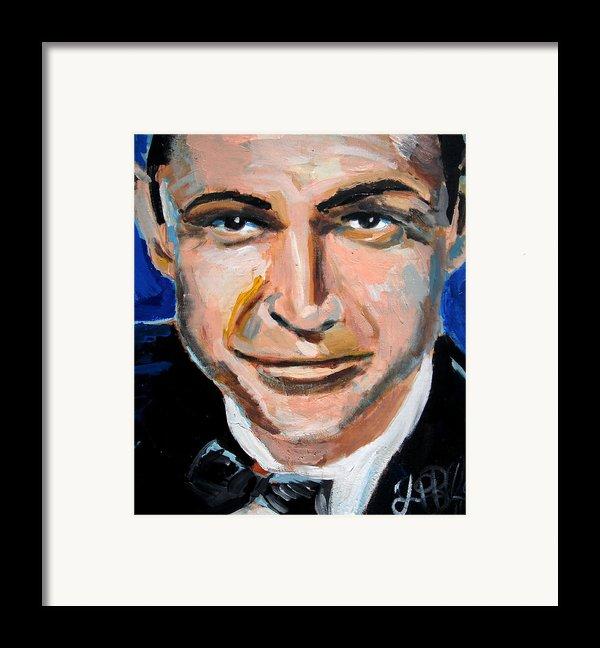 James Bond  Framed Print By Jon Baldwin  Art