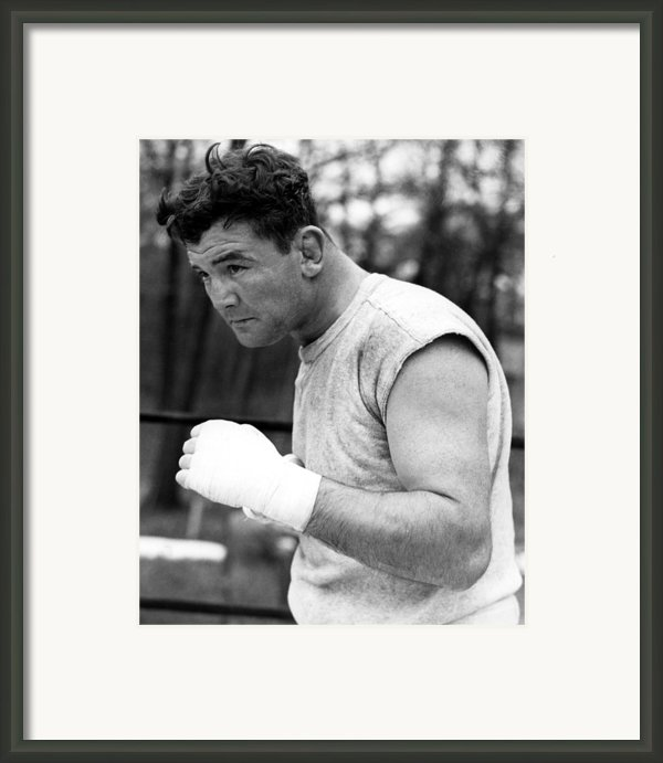 James Braddock In Training For Upcoming Framed Print By Everett