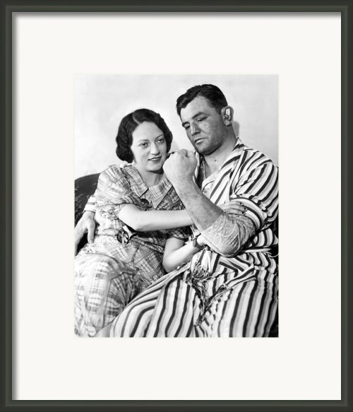 James Braddock Shows Off To Wife May Framed Print By Everett