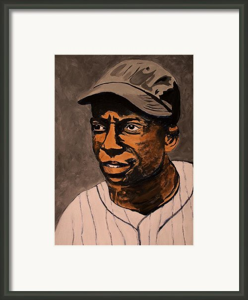 James Cool Papa Bell Framed Print By Ralph Lecompte