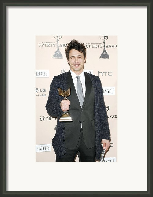 James Franco In The Press Room For 2011 Framed Print By Everett