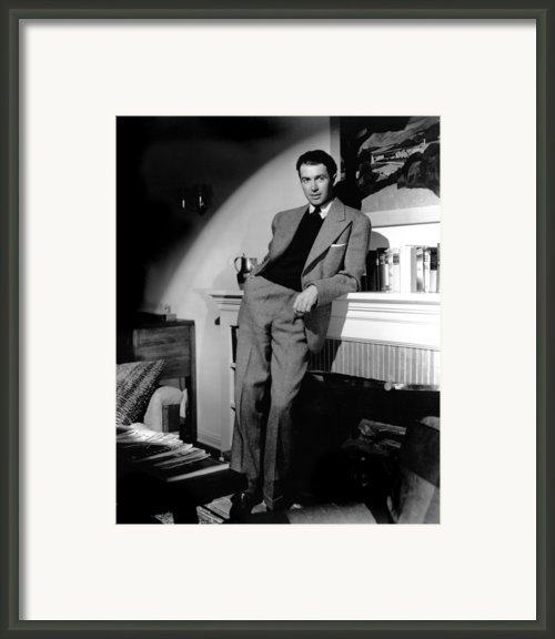 James Stewart, Portrait Framed Print By Everett