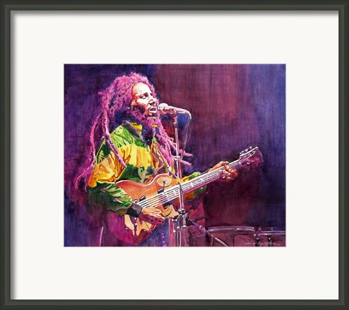 Jammin - Bob Marley Framed Print By David Lloyd Glover
