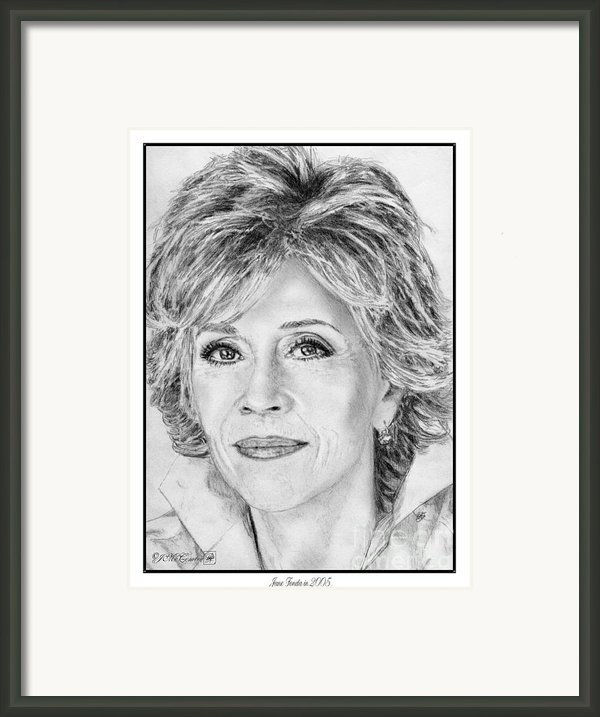 Jane Fonda In 2005 Framed Print By J Mccombie