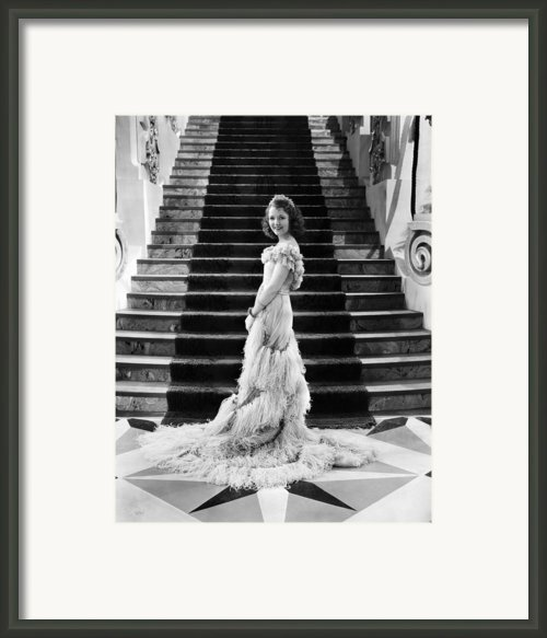 Janet Gaynor, 1933 Framed Print By Everett