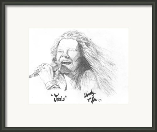 Janis Framed Print By Windy Mountain