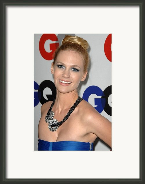 January Jones At Arrivals Framed Print By Everett