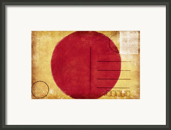 Japan Flag Postcard Framed Print By Setsiri Silapasuwanchai