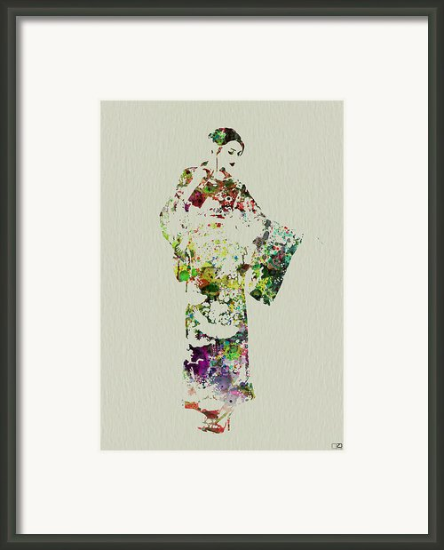 Japanese Woman In Kimono Framed Print By Irina  March