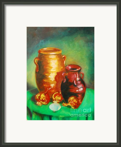 Jars Framed Print By Matthew Doronila