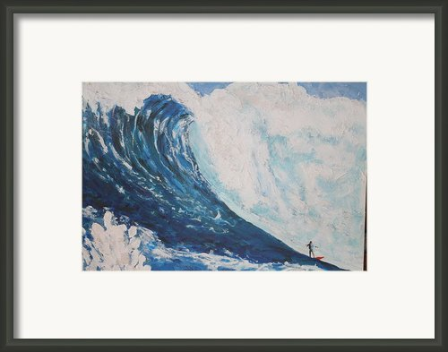 Jaws Peahi Maui Hawaii Framed Print By Giorgia Piekarski