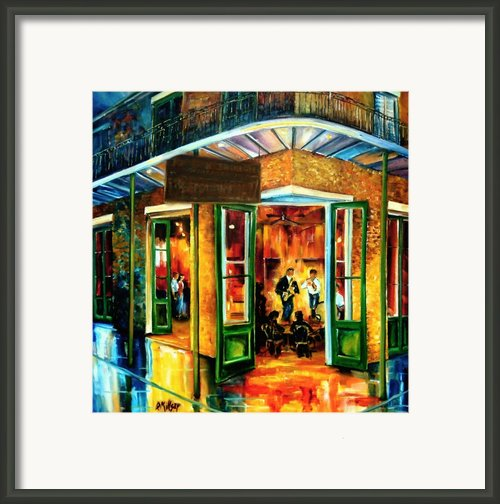 Jazz At The Maison Bourbon Framed Print By Diane Millsap
