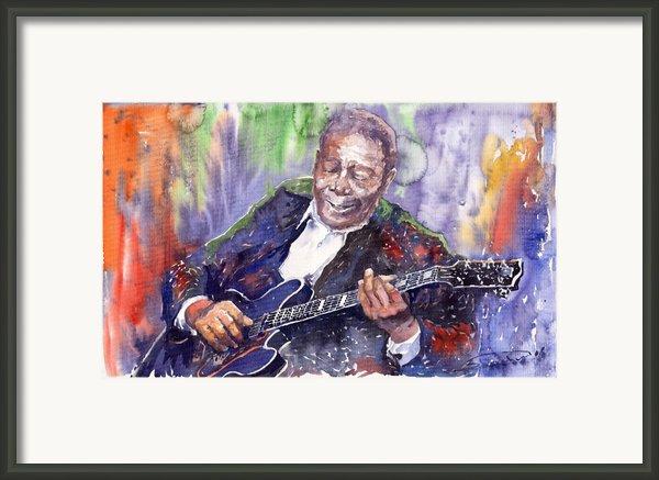 Jazz B B King 06 Framed Print By Yuriy  Shevchuk