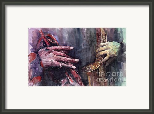 Jazz Batle Of Improvisation Framed Print By Yuriy  Shevchuk