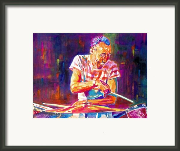 Jazz Beat Framed Print By David Lloyd Glover