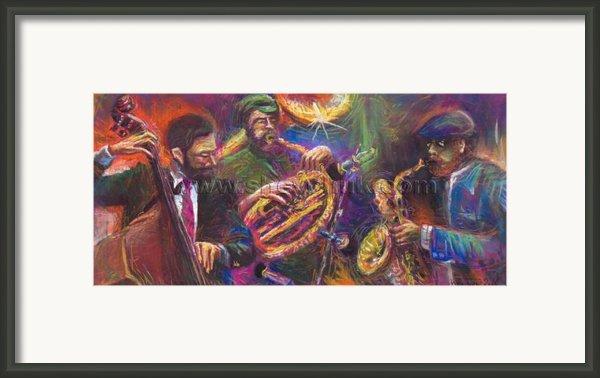 Jazz Jazzband Trio Framed Print By Yuriy  Shevchuk