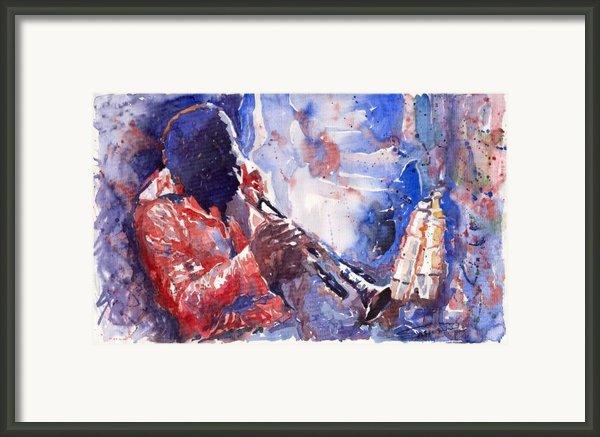 Jazz Miles Davis 15 Framed Print By Yuriy  Shevchuk