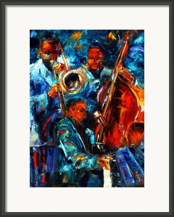 Jazz Pals Framed Print By Debra Hurd