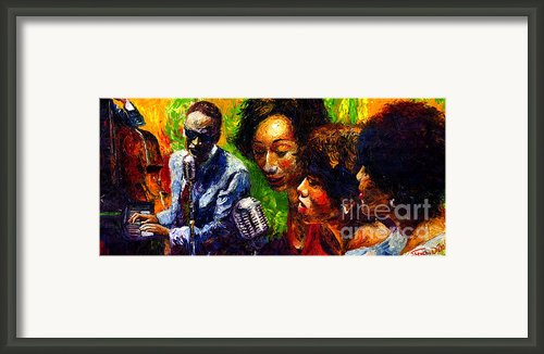 Jazz  Ray Song Framed Print By Yuriy  Shevchuk