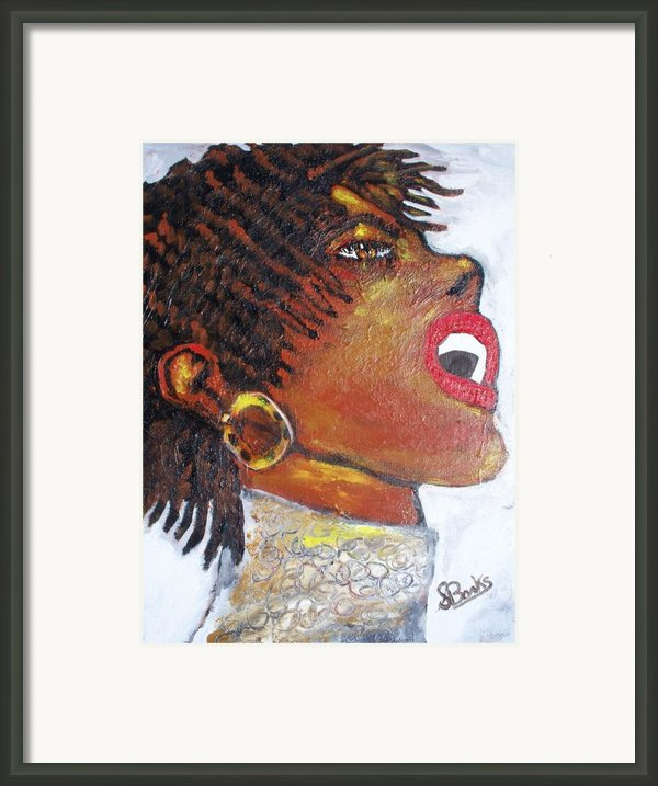 Jazz Singer Jade Framed Print By Samuel Banks