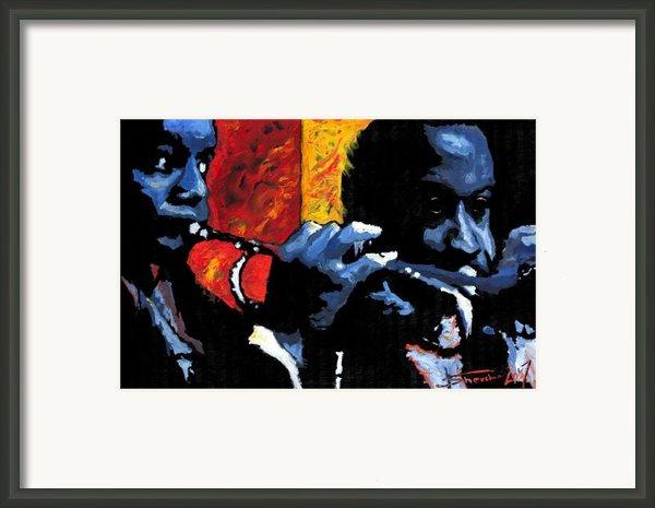 Jazz Trumpeters Framed Print By Yuriy  Shevchuk