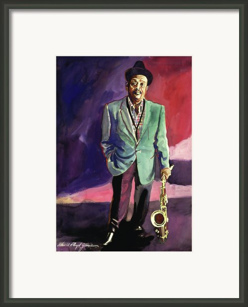 Jazzman Ben Webster Framed Print By David Lloyd Glover