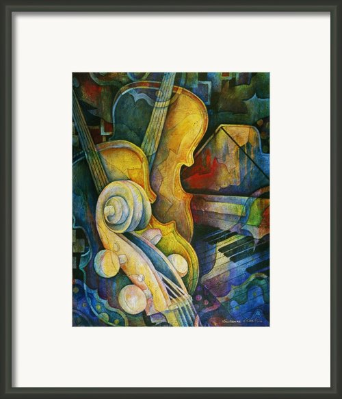 Jazzy Cello Framed Print By Susanne Clark