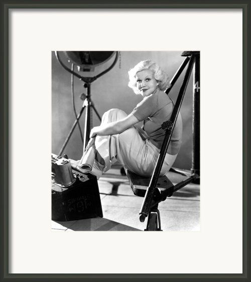 Jean Harlow, Ca. 1934-35 Framed Print By Everett