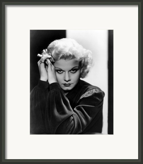 Jean Harlow, Ca. 1936 Framed Print By Everett