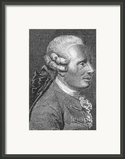 Jean Le Rond Dalembert, French Polymath Framed Print By Science Source