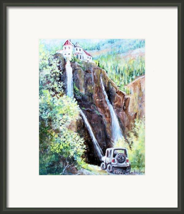 Jeeping At Bridal Falls  Framed Print By Linda Shackelford