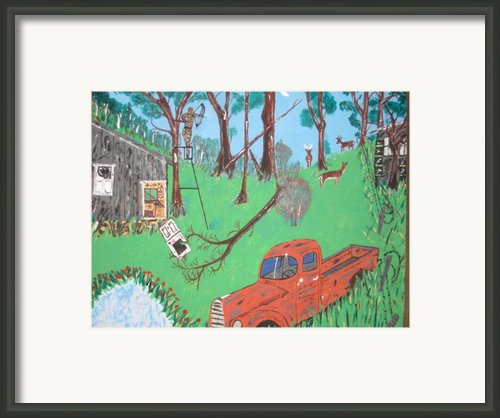 Jeff Bowhunting Framed Print By Jeffrey Koss