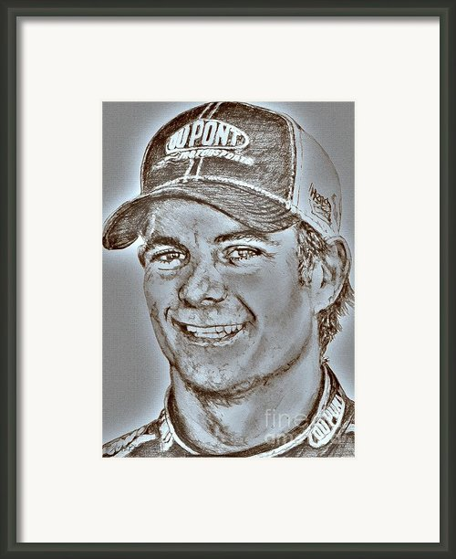 Jeff Gordon In 2010 Framed Print By J Mccombie