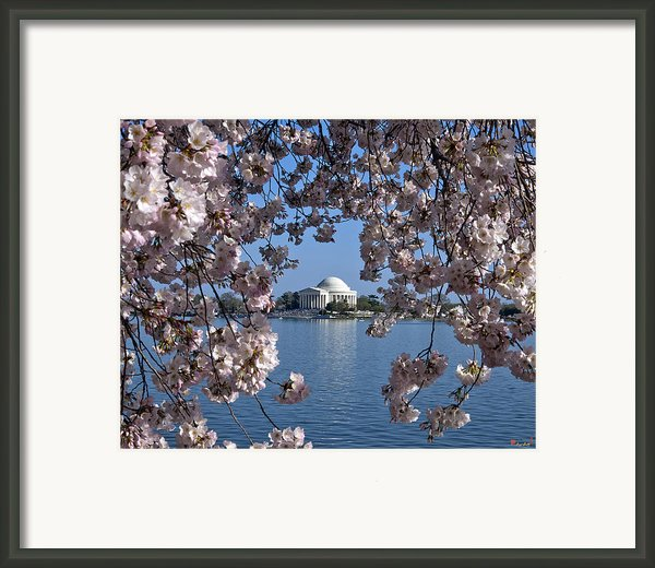 Jefferson Memorial On The Tidal Basin Ds051 Framed Print By Gerry Gantt