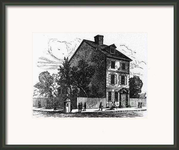 Jeffersons House, 1776 Framed Print By Granger