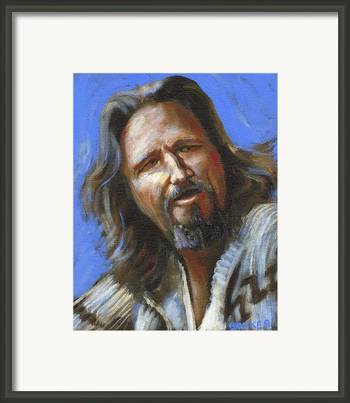 Jeffrey Lebowski - The Dude Framed Print By Buffalo Bonker